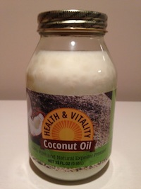 Wholesale coconut oil by Health and Vitality in a 32oz. size
