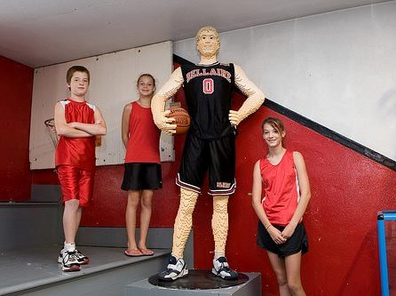 basketball lego sculpture