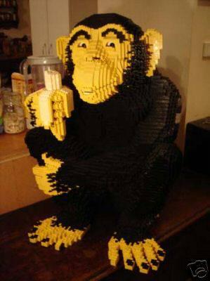monkey lego sculpture
