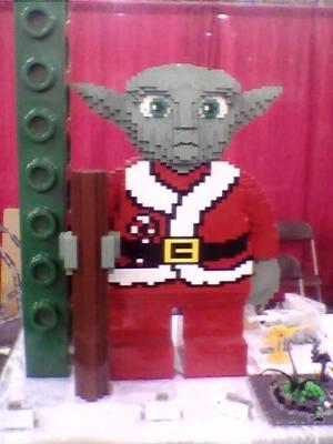 yoda star wars lego sculpture